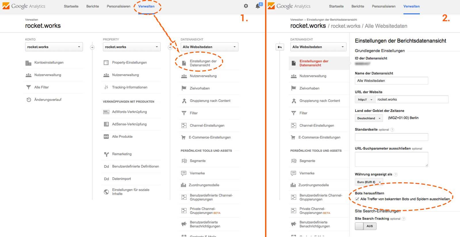 Bots herausfiltern in Google Analytics aktivieren um Spam zu verhindern